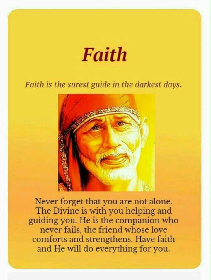 Thank you baba love you!!! Sai baba quotes