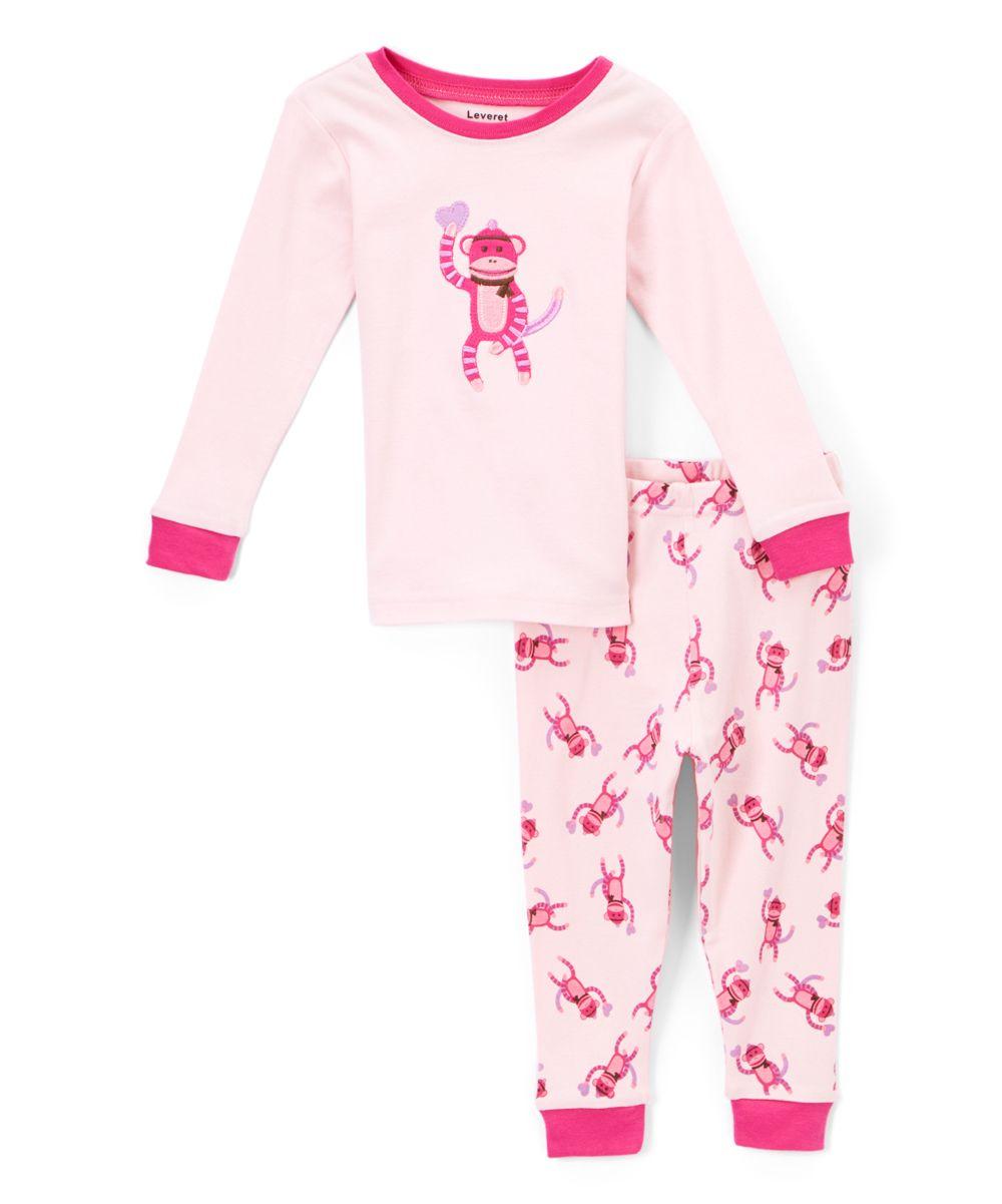 4b5c397da Pink Monkey Pink Pajamas - Infant