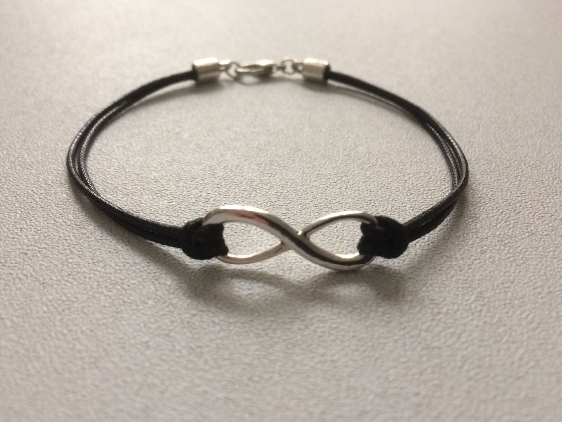 Bracelet cordon infini homme