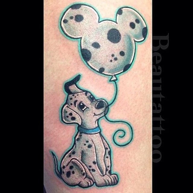 mickey mouse leg tattooed girl getting fucked