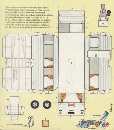 Papermau 1973 S Trailer Le Caravanier By Digue Dingue Dong Paper Models Paper Toys Paper Houses
