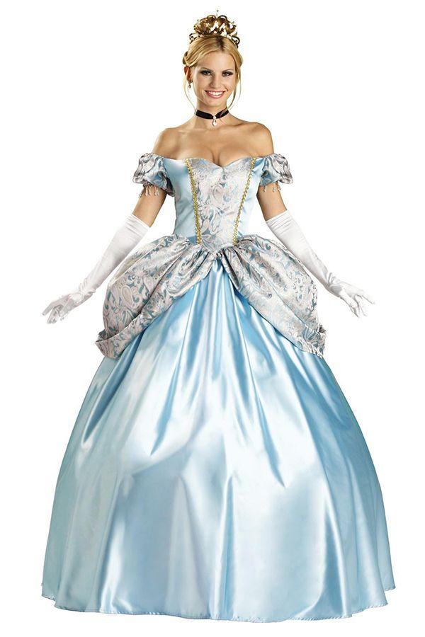 Elegant Blue Elegant Cinderella Snow White Fairytale Halloween Costume #2014 #Cute # Halloween #Costumes #Fashion #Women #Diy #Homemade Creative #Cheap #Sexy ...