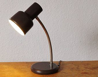 Small Desk Lamp From The 70s Metal Color Brown Original Mid Century Table Lamp Vintage Lamp Adjustable Tilt Mid Century Table Lamp Lamp Small Desk Lamp