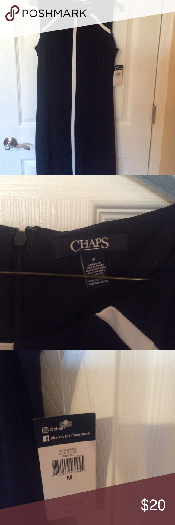 Chaps Dress NWT CHAPS Dress-Brand New! Soft and stretchy. Would be a great 'jo...
