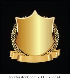 Photo of Vetor stock de Gold Black Shield Gold Laurels (livre de direitos) 1130760074