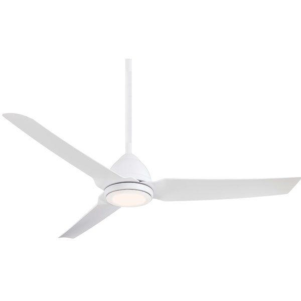 54 Java 3 Blade Outdoor Led Ceiling Fan With Remote Light Kit