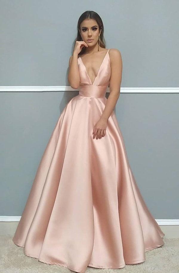 Vestido rosa para madrinha de casamento: 70 vestidos longos