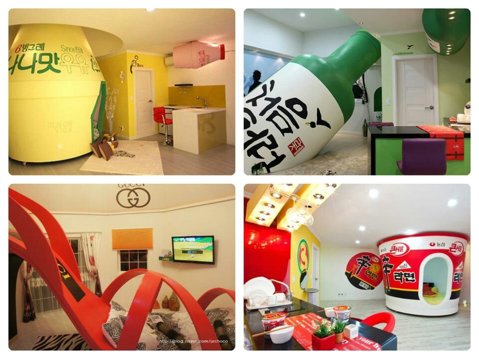 """Korea- themed vacation condos"" Bit weird, but I feel like this is something I would do XD"