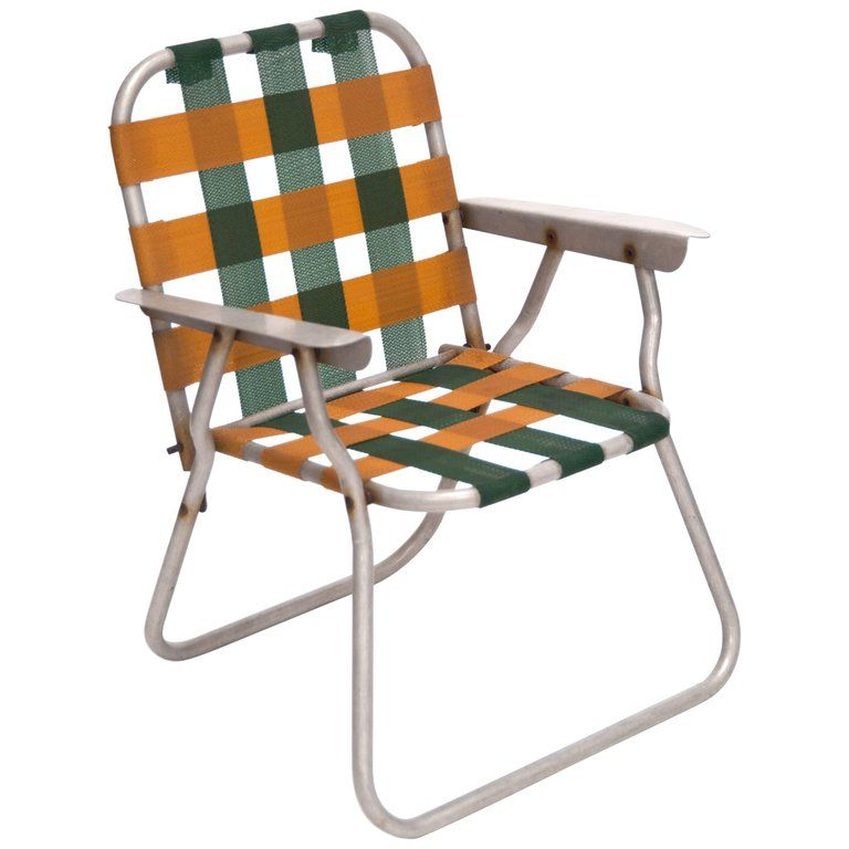 Swell Folding Child Lawn Chair Designer Unknown Usa 1970S In Short Links Chair Design For Home Short Linksinfo