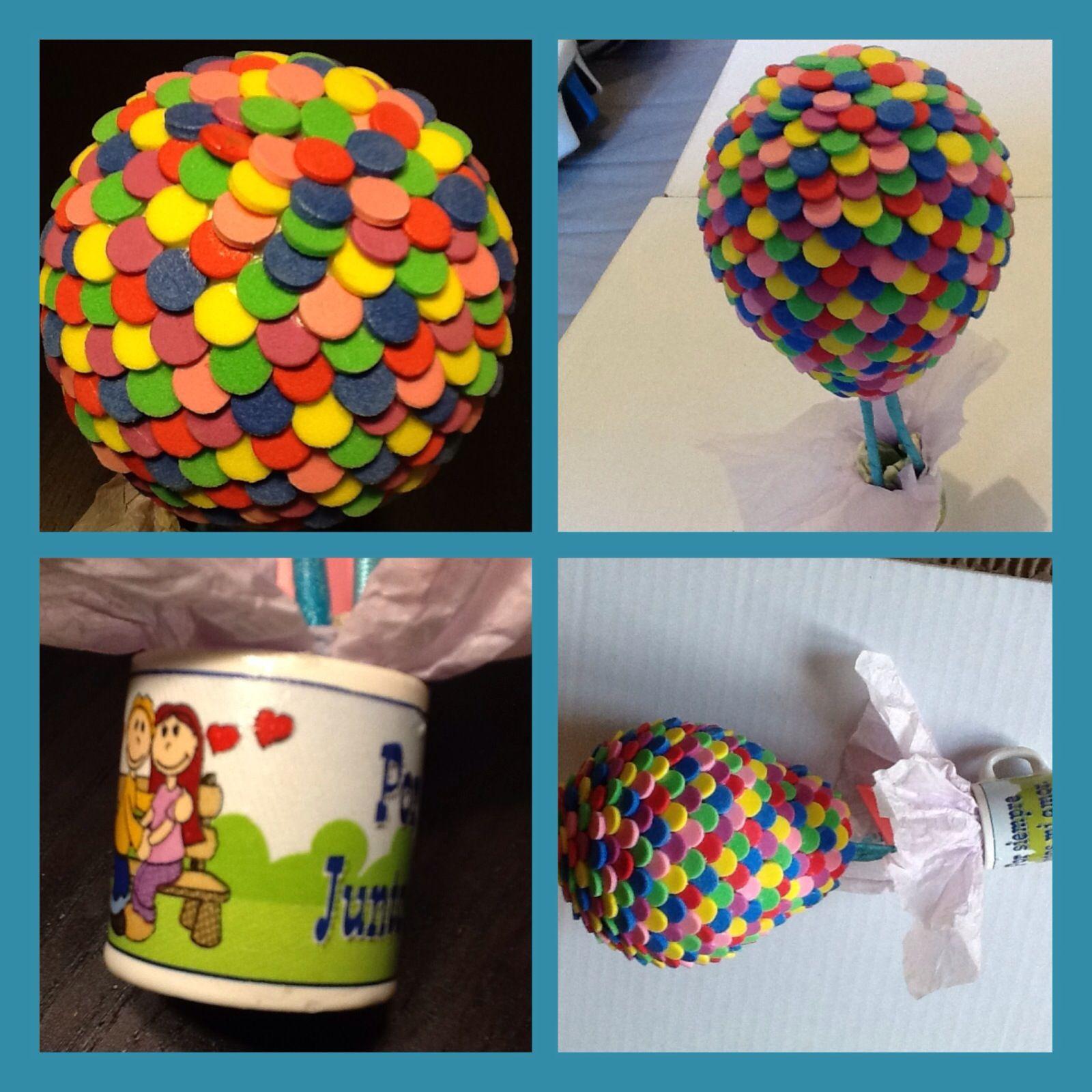 Diy globo hecho de foami como el de la pel cula de up de - Regalos de san valentin para el ...