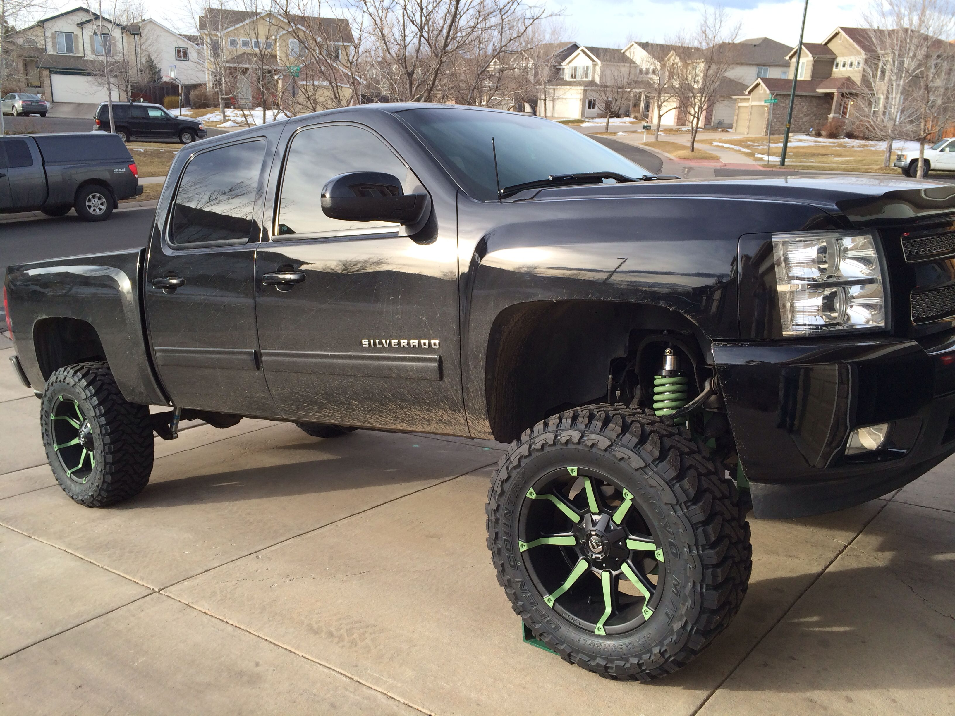 Lifted chevy silverado 7 full throttle suspension