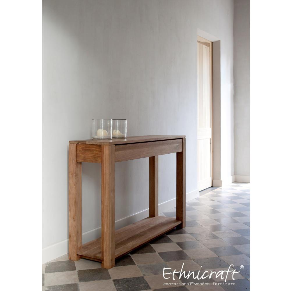 Small hallway furniture  Ethnicraft Lodge Console  Clickon Furniture  Designer Modern