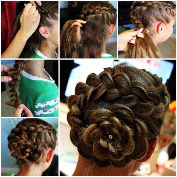 Diy Braided Hairstyles: DIY Side Braid Rose Flower Hairstyle Tutorial