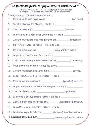 """Quand Accorder Le Verbe Avoir : quand, accorder, verbe, avoir, Participe, Passé, Conjugué, Verbe, """"avoir"""", Composé,, Passé,, Passe, Compose"""