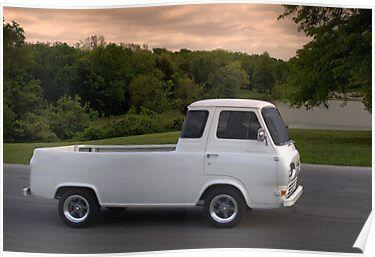 1962 Ford Econoline Pickup Truck Poster Pickup Trucks Pickup