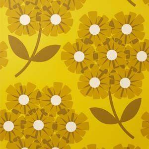 Orla Kiely wallpaper Giant Rhododendron Sunflower