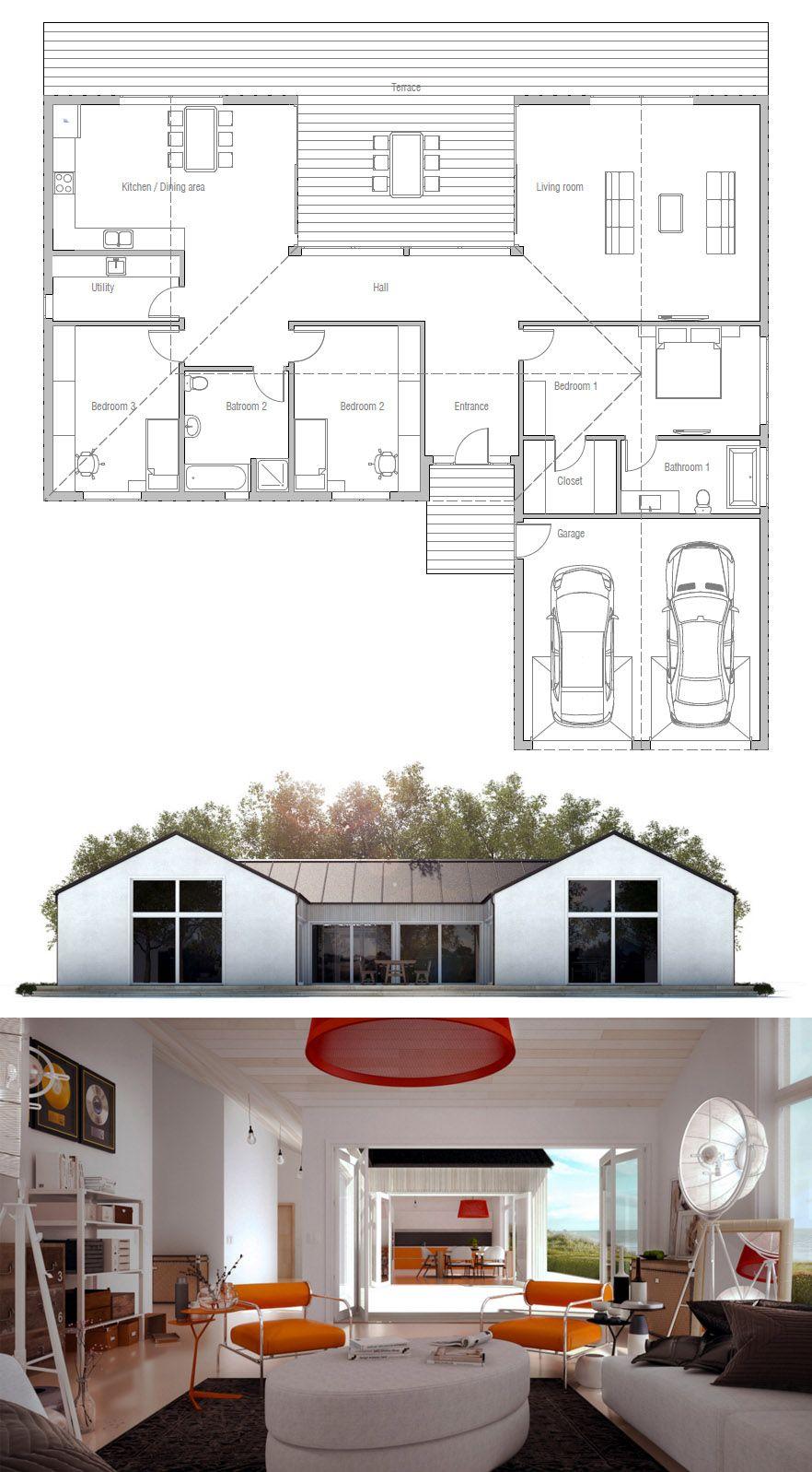 Home floor plans house design modernfarmhouse adhouseplans floorplans also rh pinterest