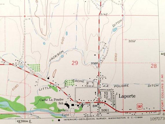 Antique Laporte Colorado 1962 Us Geological Survey Topographic Map