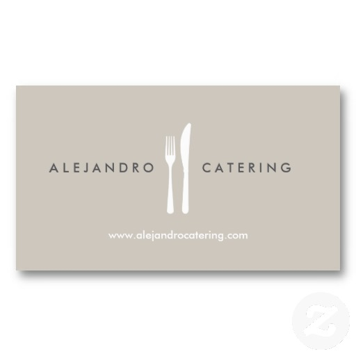Fork and knife logo for chef catering restaurant business cards fork and knife logo for chef catering restaurant business cards reheart Image collections