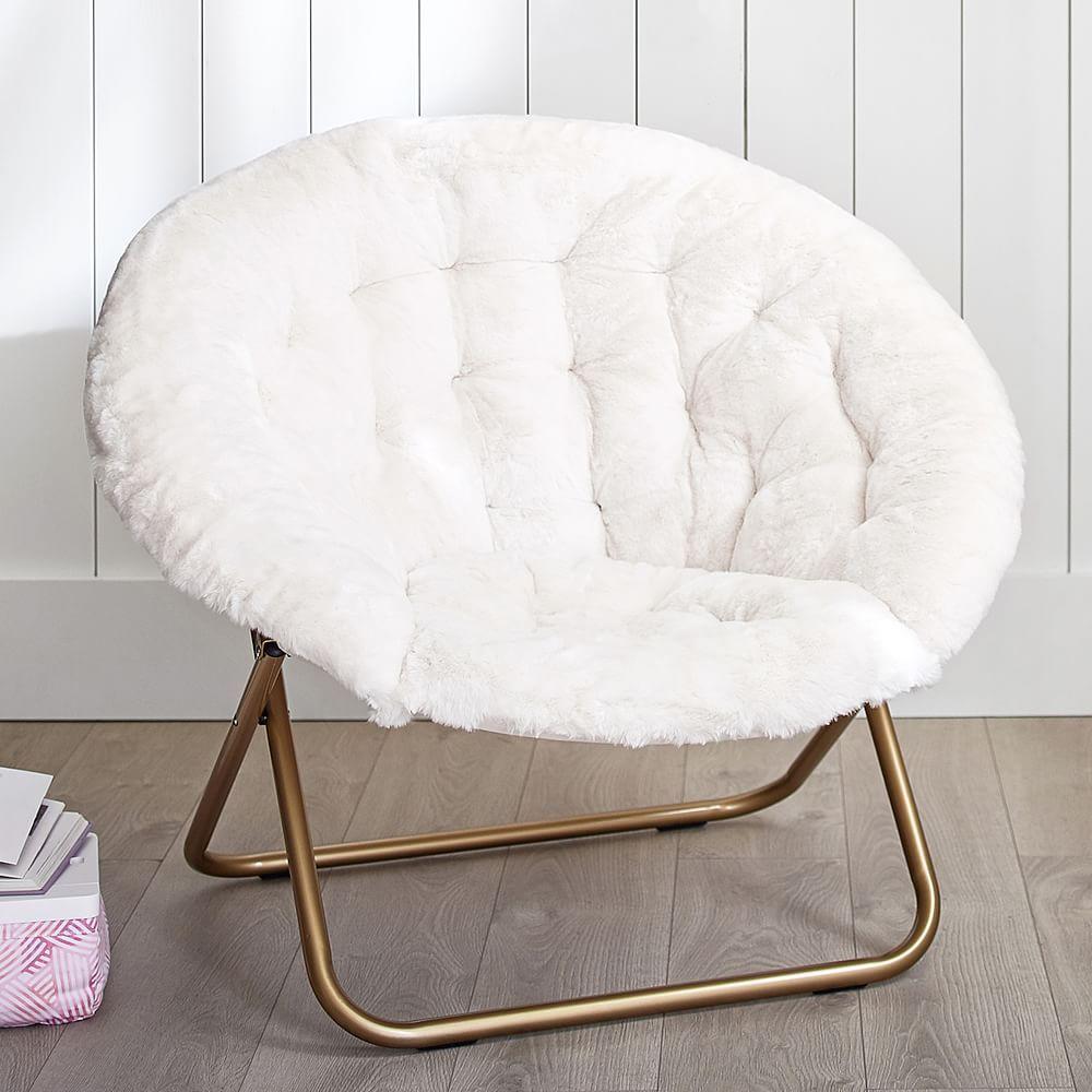 Polar Bear Faux Fur Ivory Hang A Round Chair Round Chair Room Chairs Room Inspiration Bedroom