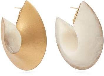 e7463531c02a3 Vanda Jacintho - Ring Hoop Earrings - Womens - White #Ring#Jacintho ...