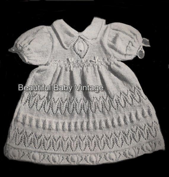 Royal Baby Layette Jacket Dress Bonnet Bootees Shawl 3 Ply Knitting