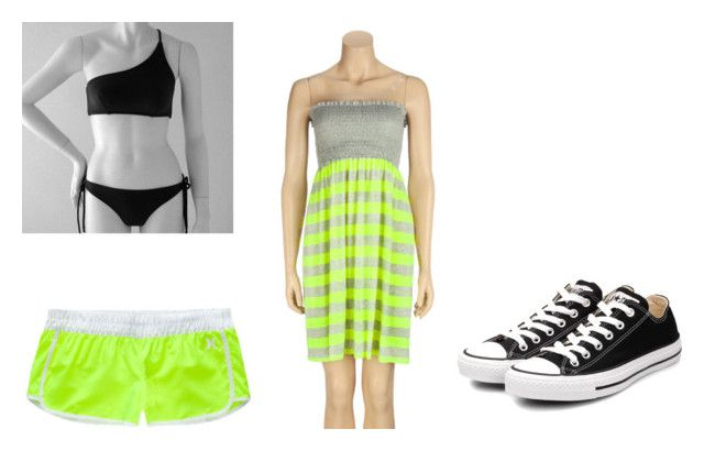 """Untitled #81"" by panda-says-free-hugs ❤ liked on Polyvore featuring ELAN, Hurley and Converse"