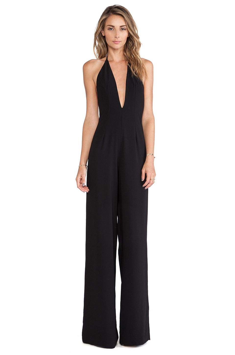 e7a21e839fa SOLACE London Rossi Jumpsuit in Black