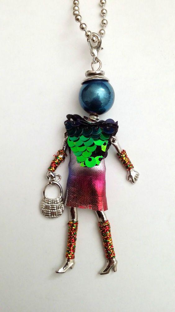 Sautoir Collier Poupée Articulée Femme et Chaîne Métal , Mode Fantaisie in  Bijoux, montres, Bijoux fantaisie, Colliers, pendentifs
