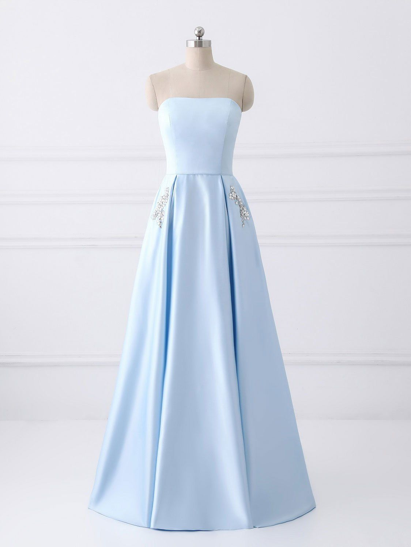 Aline prom dresses sleeveless satin long prom dress vc