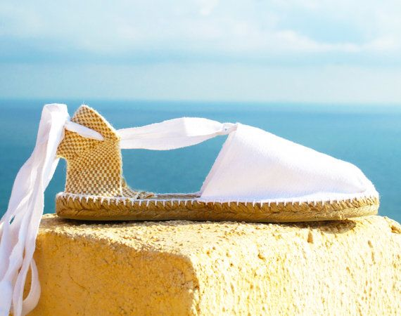 IBIZA Lace Up Espadrilles Organic Cotton Women by IBICENCAS  #laceup #espadrilles #organic #hippie #vegan #sandals #shoes #beach #sunny #white #beachparty #party