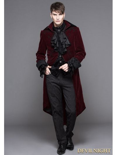 b97deac502bc04 Wine Red Gothic Palace Style Long Coat for Men | Snapdragon in 2019 ...