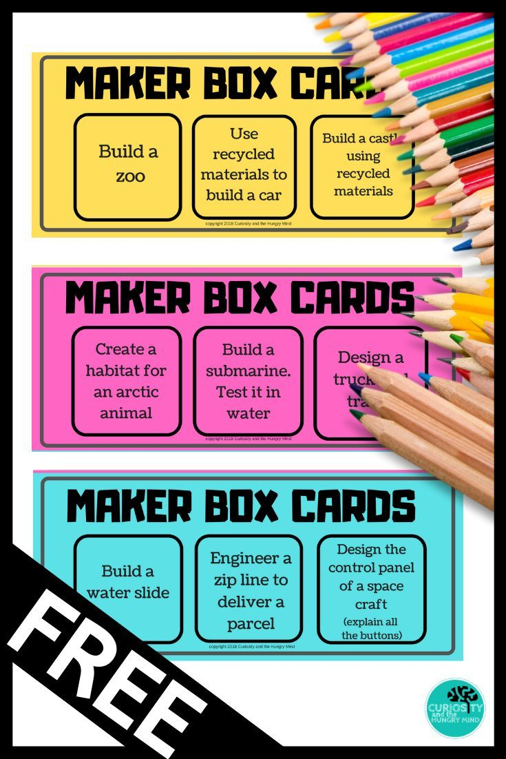Maker Space Cards Stem Challenges Distance Learning In 2020 Stem Challenges Makerspace Stem Lesson
