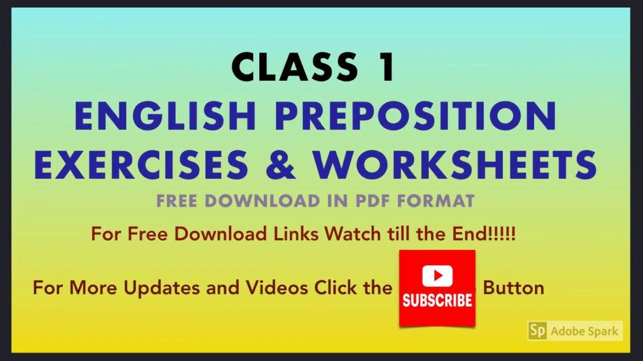 Preposition Exercises Class 1 Worksheet English Grammar Grade 1 Prepositions Worksheets For Class 1 English Grammar [ 720 x 1280 Pixel ]