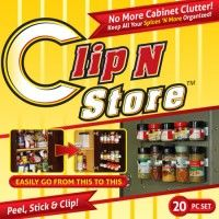 As Seen On Tv Spice Rack Clip N Store  Spice Holder  As Seen On Tv Shop  As Seen On Tv