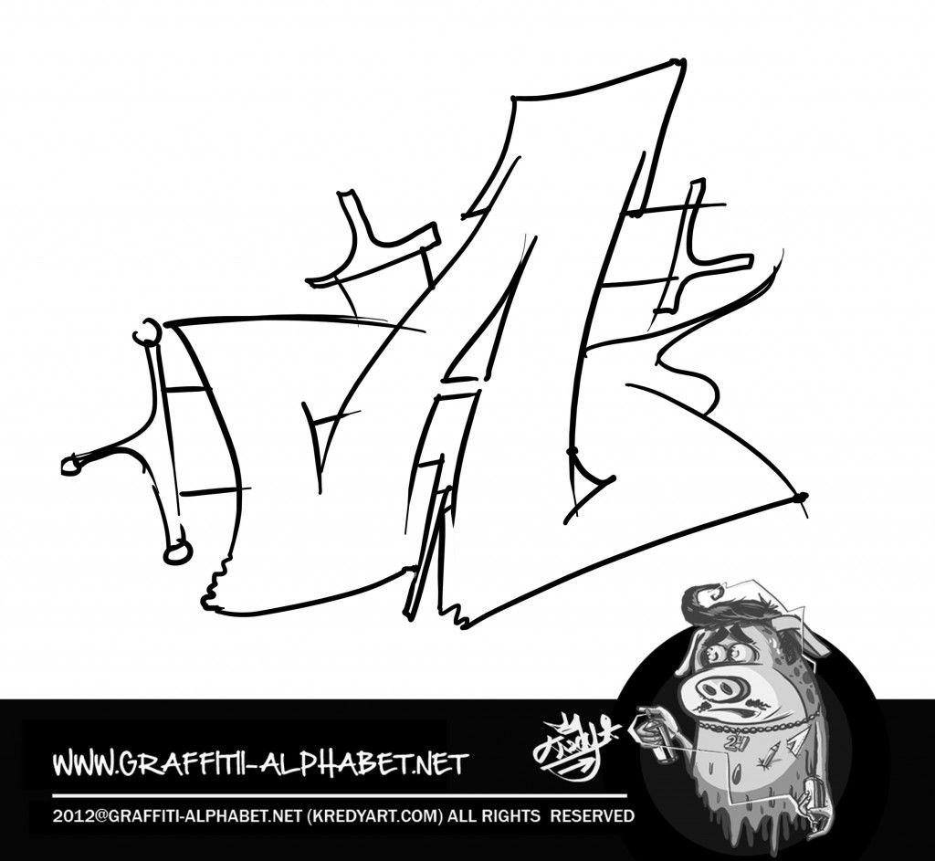 Graffiti alphabet letters a