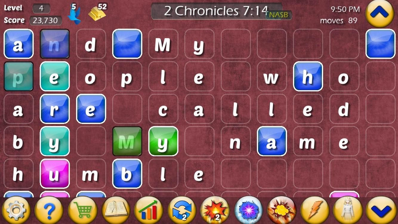 Play the Bible game screenshot of 2 Chronicles 714