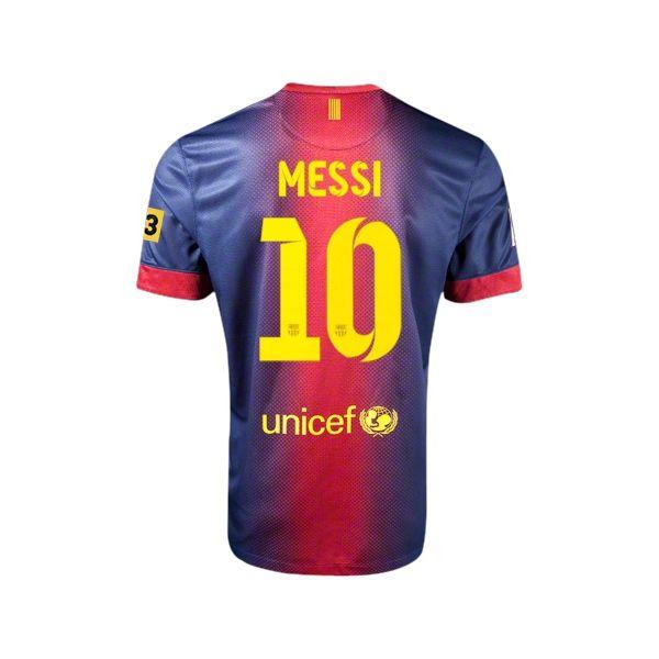 Messi,12/13 Barcelona #10 Messi Home Soccer Jersey Shirt Replica $38.99