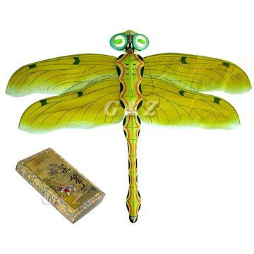 Handmade 3D Yellow Silk Dragonfly Kites in Paper « Game Searches