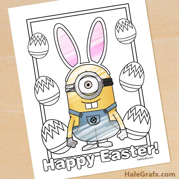 Free Printable Easter Minion Coloring Page Easter Printables Free Minions Coloring Pages Easter Coloring Pages
