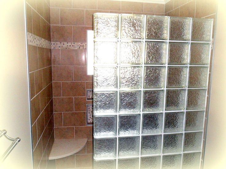 Glass Block Walls In Bathrooms | Via Kirklands Flooring