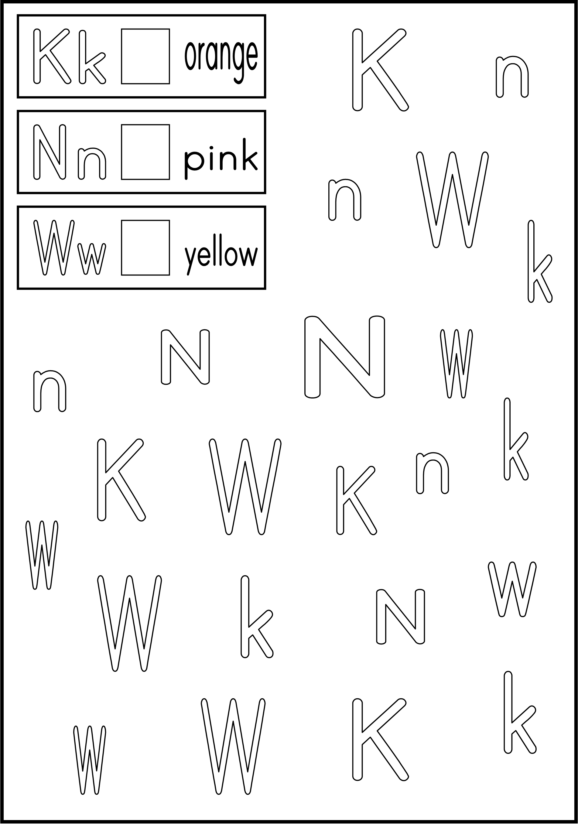 Free Worksheet Kindergarten Letter Recognition Worksheets alphabet activity follow the directions trace within lines worksheets free printable 7 others with different letters on each