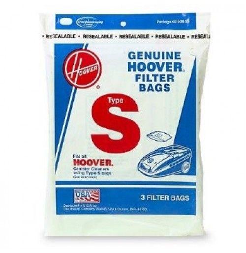 Hoover Vacuum Cleaner Bags Type S 3pk Vacuumbags Dirtbags Vacuums