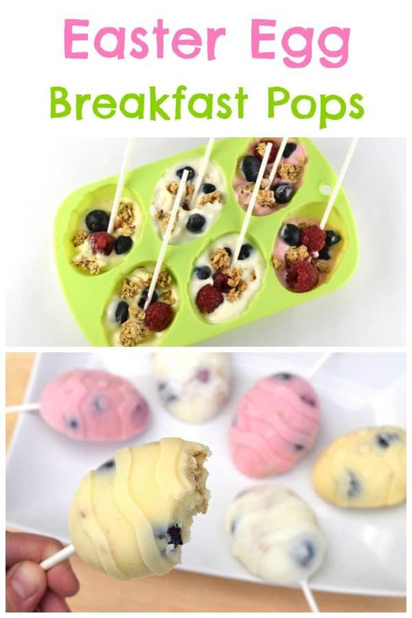 Easy healthy Easter Breakfast Popsicles recipe - a fun alternative to chocolate treats for kids this Easter #EatsAmazing #easterfood #easterrecipe #kidsfood #easter #healthykids #funfood #breakfastrecipes #popsicles #easyrecipe #cookingwithkids #eastereggs #frozenyogurt