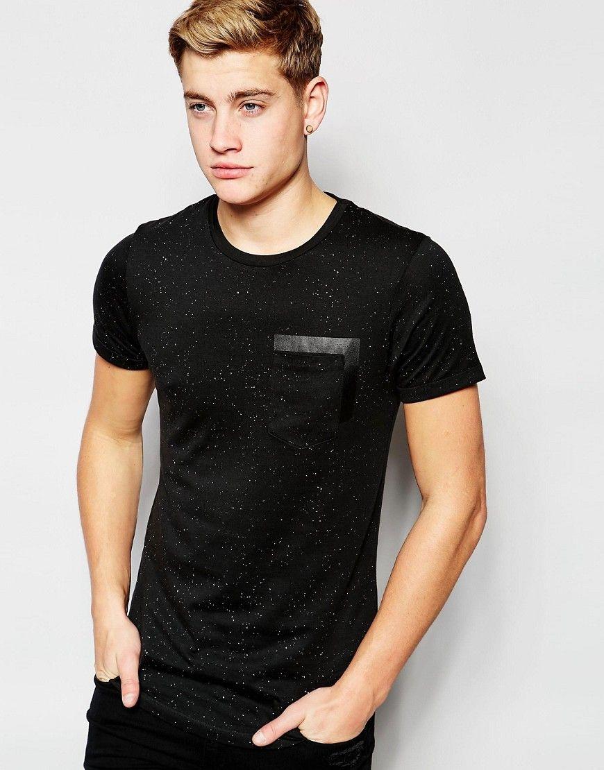 Shop Jack & Jones Fleck T-Shirt with Rubberised Pocket Print at ASOS.