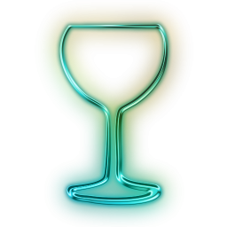 Glowing Green Neon Icon Food Beverage Drink Glass2 Png 256 256 Icon Green Bartender