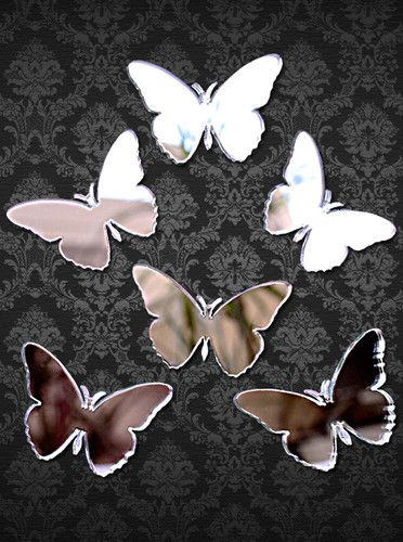 Set of 6 BUTTERLIES Acrylic Mirror 5cm BUTTERFLY MIRRORS | eBay