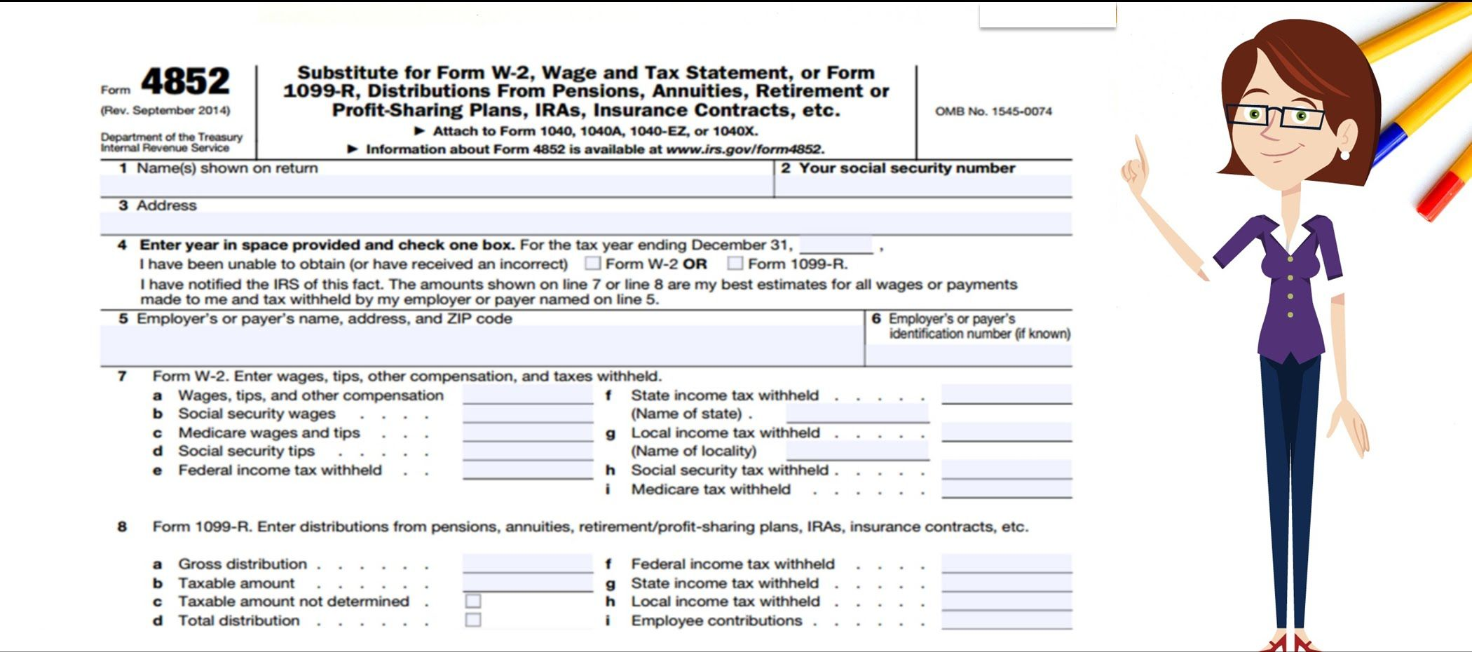 Irs What To Do If Form W 2 And Form 1099 R Is Not Received Or Is