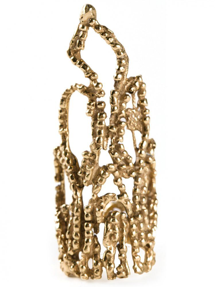 YUKIE DEUXPOINTS - Full Finger Crown Ring - CROWN GOLD - H. Lorenzo