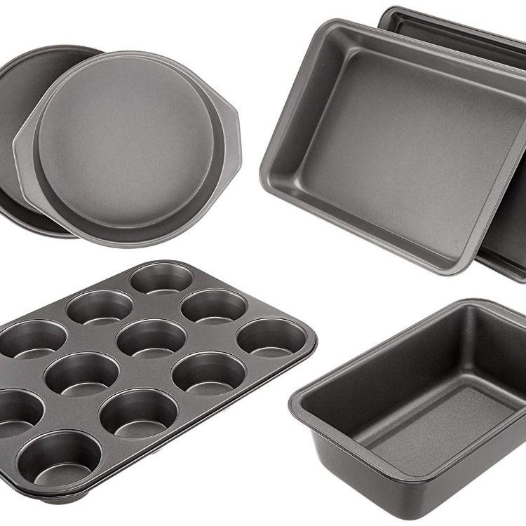 Amazonbasics 6 Piece Nonstick Oven Bakeware Baking Set Crispy
